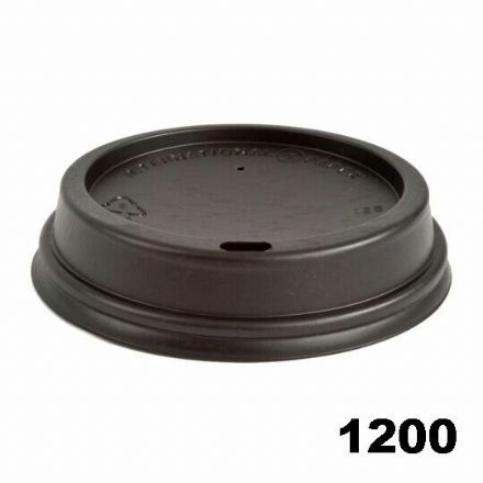Sip Lids for 12oz / 16oz  Cups - Black (1200) CASE